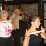 Reva and Carlie follow George Hoffman (Silverdragon Tai Chi & Qigong) through one of the movement routines of the Taoist Primordial Taiji Ruler Qigong during a workshop at Starfarm Tai Chi .